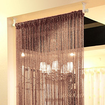 "37"" X 76"" Special String Door Curtain Beads Strip Window Panel Home Decor Brown"