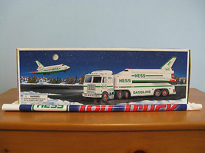 1999 Hess Toy Truck And Space Shuttle With Satellite - Mint In The Box With Bag