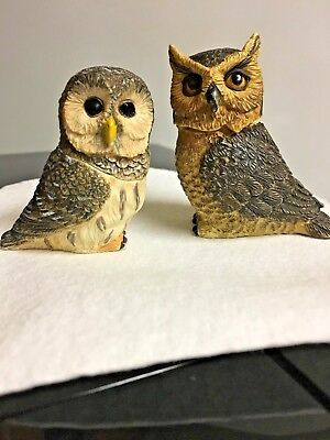 """Harmony Ball Pot Bellys Owls~2!! NIB~ """"BARRED"""" AND """"GREAT HORN""""  PBZOW8/PBZOW4"""