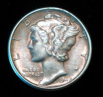 1945-D About Uncirculated Mercury Dime