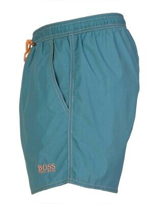 dcf6bed94ee18 Hugo Boss Lobster Swim Shorts Quick Dry Blue Mens Size Small / Medium **New