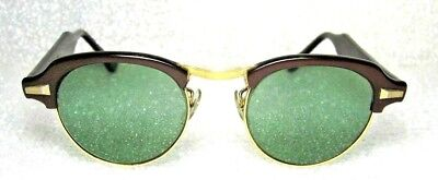 Vintage Ray-Ban USA *B&L 1950s Original Clubmaster Rounds *RB-3 *Mint Sunglasses