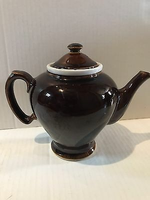 VINTAGE MCCORMICK TEA AND SPICE CO. 3 PC TEAPOT Brown.