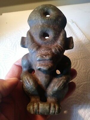 AMAZING! Authentic PRE-COLUMBIAN Carved JADE Figure EFFIGY Olmec MAYAN CULTURE