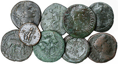 FORVM Lot of 9 Roman Imperial and Provincial Bronze Coins