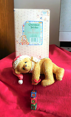 """Cherished Teddies Shelf Sitter """" Dropping You a Holiday Greeting """" -  # 176133"""