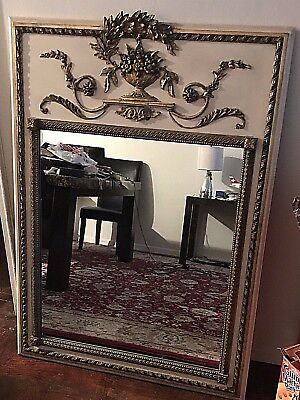 Vintage French Provincial Carved Brass Gilt Mirror