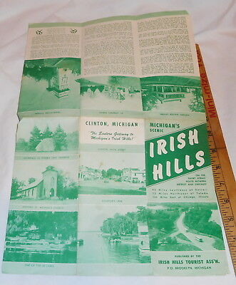 vintage Clinton Michigan The Eastern Gateway to Michigan's Irish hills brochure