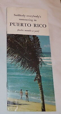 vintage Suddenly Everybody's summering in Puerto Rico Booklet