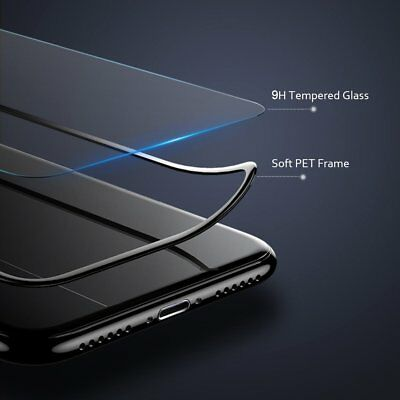 9H Tempered Glass Curved PET Soft Edge Screen Protector for iPhone X 8 7 Plus