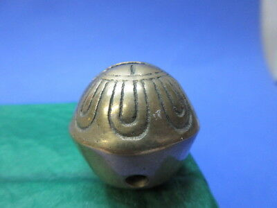 """1 brass 1 1/8"""" bright & shiny jingle sleigh bell from horse strap /S hook mtg R1"""