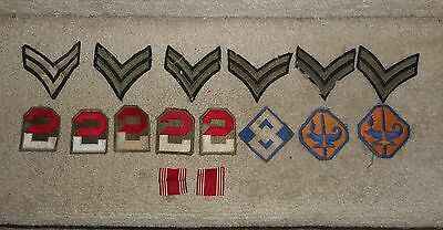 Lot 14 Ww2 Military Patches, Special. Train., 2Nd Army Sq.top, Corporal Chevrons