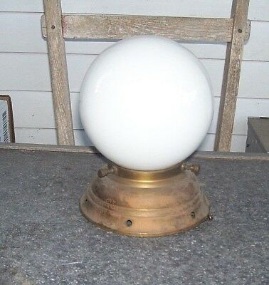 Vintage Mid Century Ceiling Fixture Light Globe with Original Mount ROUND
