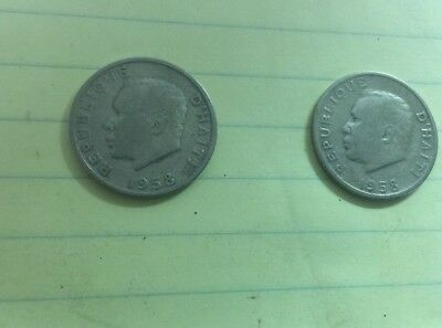 2-1958 Republique D'Haiti 10 Centimes Coin