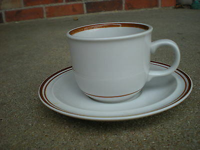 Violet Colonial Stoneware Cup and Saucer  Made in Japan