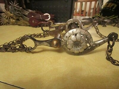 Vintage Horse Bit, Heavy, Silver Overlay, Interesting Chains, Brass Buttons,