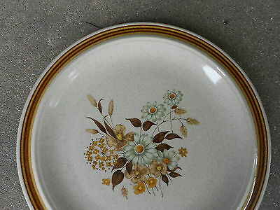 Scenia Foliage Forest Flower Stoneware DINNER PLATE SY-7589 JAPAN