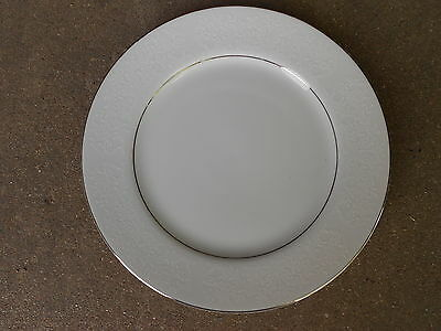"""Taihei Bridal Lace 10"""" DINNER PLATE  Made in Japan 6946 White on White"""