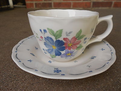 Provincial Designs DAUPHINE  Coffee Cup and Saucer by Nikko Made in Japan