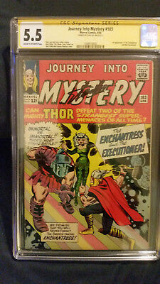 Journey into Mystery #103 CGC graded 5.5, signed by Stan Lee