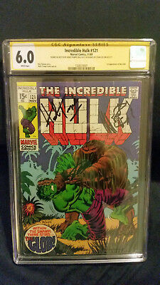 Incredible Hulk 121 CGC graded 6.0 Signed by Stan Lee, Herb Trimpe