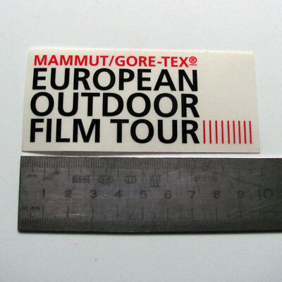 Mammut Gore-Tex European Outdoor Film Tour Sticker Decal New The North Face