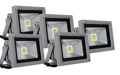 5x FOCO LED LUZ LAMPARA PROYECTOR PARED EXTERIOR 10W 50.000H A+ IP65 4500K SET