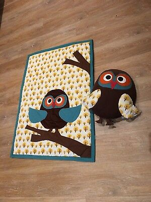 Ferm Living Owl Kids Cushion And Quilted Play May