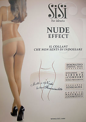 "COLLANT SENZA CUCITURE "" SISI "" NUDE EFFECT Corpino Seamless Art.1299 TG. 2-3-4"