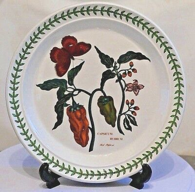 """PORTMEIRION Botanic Garden ~ 8.5"""" Salad Plate ~ RED PEPPERS  ~ 1st Quality"""