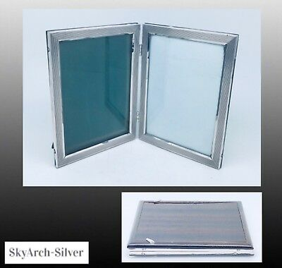"""SOLID SILVER Photo Frame 6"""" X 4.5"""" DOUBLE 12"""" X 9"""" Total STERLING SILVER 800"""