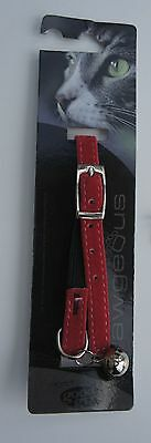 Soft Safety Cat Collar With Bell And Engraved Id Tag Armitage Red Velvet