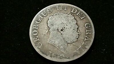1819 . Great Britain . Half Crown . 1/2 cr . Large Old World Silver Coin