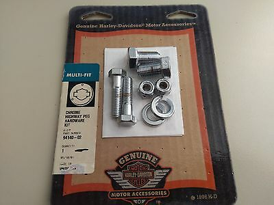 Harley highway pegs hardware kit Chrome 94140-02