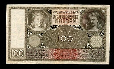HOLLAND Netherlands 100 Gulden VF
