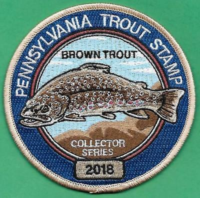 Pa Pennsylvania Fish Game Commission Wilderness Edition 2018 Trout Stamp Patch