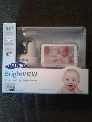 "Samsung BrightVIEW Wireless Tilt Video Baby Monitor 5"" Touch Screen SEW-3043W"