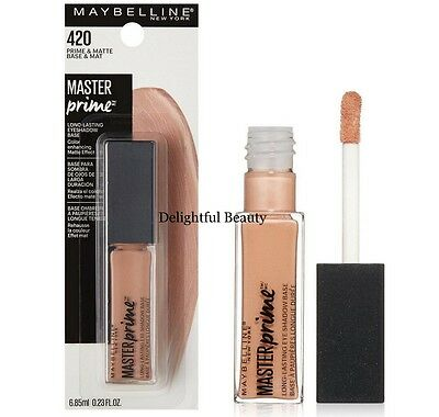 Maybelline Master Prime Eyeshadow Base 420 PRIME & MATTE - New in Package
