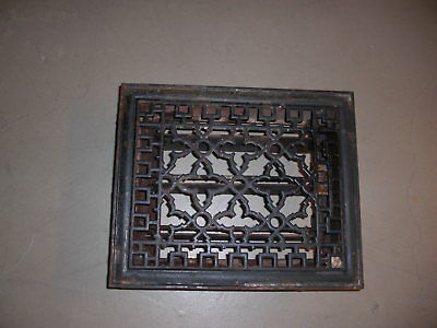 Antique Cast Iron Heat Grate Floor Vent Register Vtg Victorian  11 1/2 x 9 1/2
