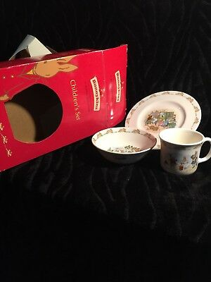 ROYAL DOULTON England Bunnykins Plate, Bowl & Cup Child's Set - New Baby