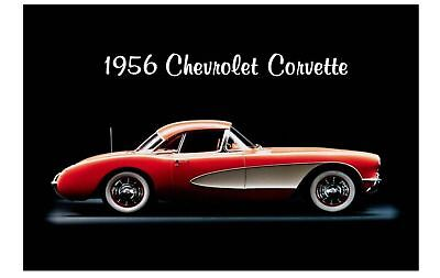1956 Corvette PHOTO Art Ad Advertisement Pic Sign Chevrolet Chevy Sports Car