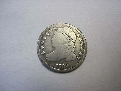 Circulated 1833 Capped Bust Half Dime Ungraded Uncertified
