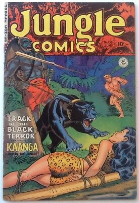 JUNGLE COMICS #138  FN- 5.5 FICTION HOUSE 1951 Bondage GGA