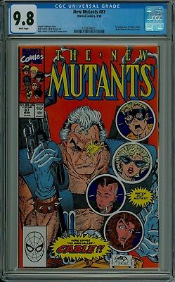 The New Mutants #87 CGC 9.8 NM/MT mint CABLE McFarlane Liefeld Marvel 1338704021