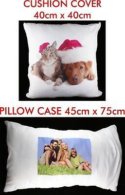 Personalised Cushion or Pillow Cover Printed Photo Gift Custom Made Smooth Print