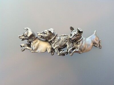 Jack Russell Terrier dog barrette Pewter AUTHENTIC FROM ARTIST Zimmer design