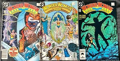 Lot Of 3 Wonder Woman Comics (Dc,1986-1987) #2, 7, 11 Copper Age