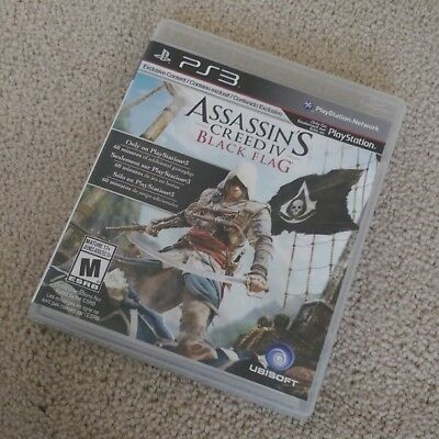 Assassin's Creed IV: Black Flag (PlayStation 3) PS3 Complete MINT LIKE NEW