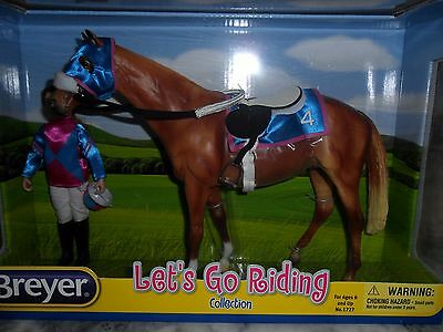 Breyer NIB * Lets Go Riding - Racing * 1727 Rider Tack Traditional Model Horse