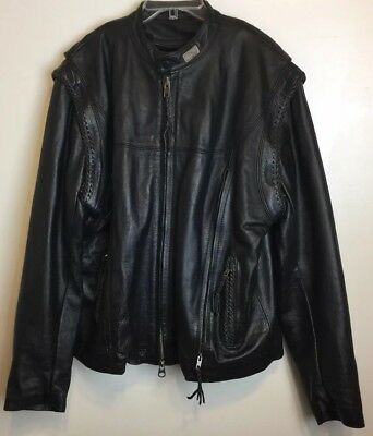 Harley Davidson Mens Willie G American Legend Convertible Leather Jacket Size XL